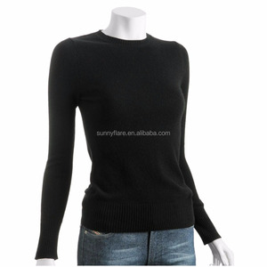 Hot Sale Design Mongolian 100% Cashmere Women Long Sleeve Sweater