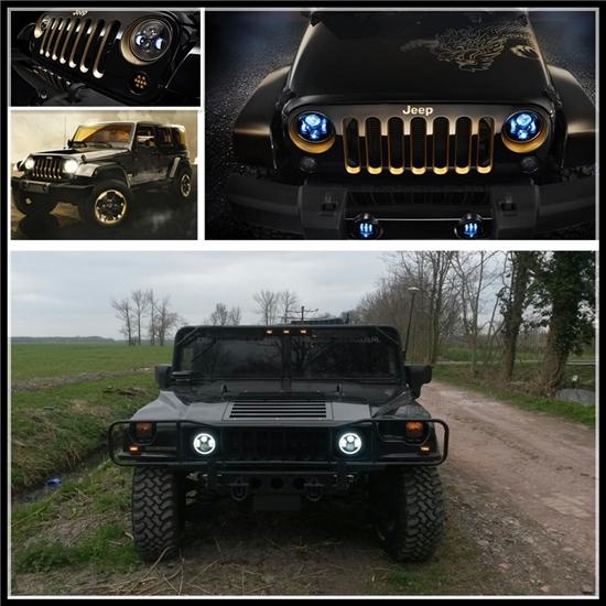 7 Inch Round Led Car Headlight Bulbs,Jeep Wrangler Accessories ...