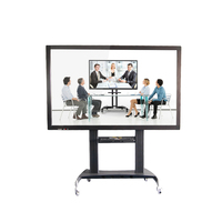 "55"" 65"" 75"" 86"" 100"" inch interactive touchscreen all in one smart board panel with bracket"