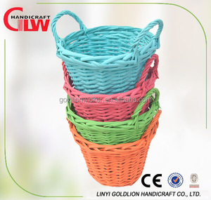 Colorful split willow Christmas storage basket wholesale