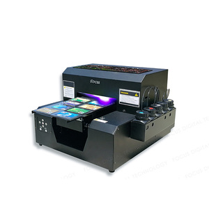 Digital ceramic decal small format automatic cd glass mini a4 uv led printer