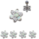 Solid Titanium Flower Ear Tragus Piercing