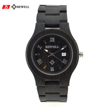 Latest Style Super thin case Casual Day/Date Wooden Watch for men&ladies gift