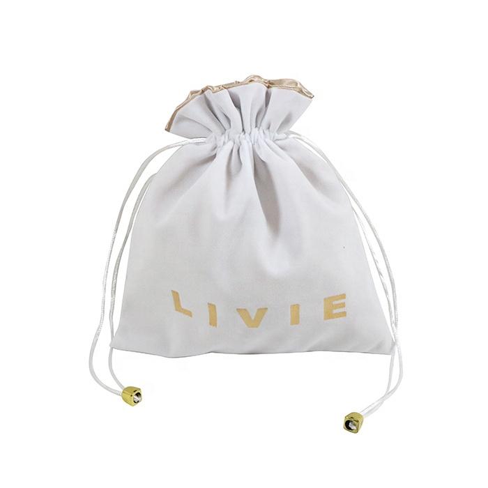 Wholesale Velvet Pouch Custom Printed Drawstring Pouch Bag