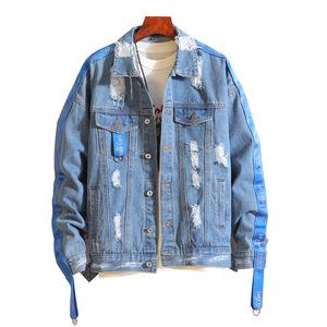 fashion new design street wear men's denim jacket