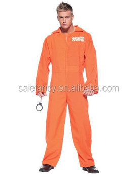 Adult Sexy Orange Prisoner Jumpsuit Gay Men Costume Qamc-2070 ...