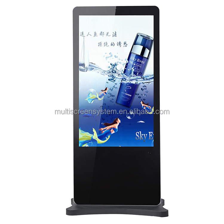 70 inch Network Floor Standing Advertising Digital Signage Media Player 2G RAM, 8G ROM