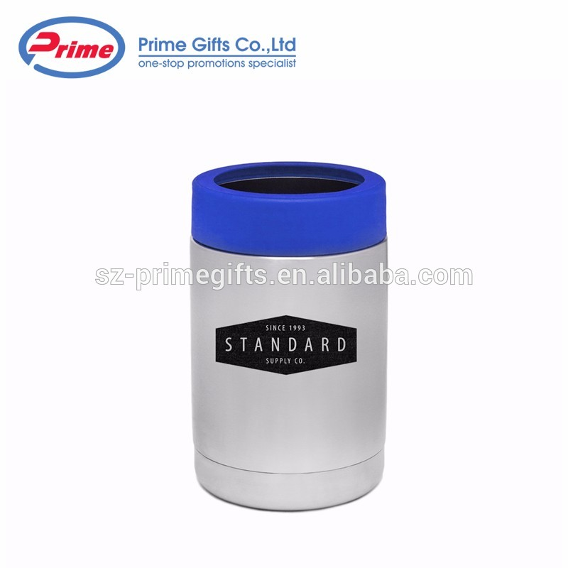 Personalized Design Round Insulated Stainless Steel Beer Can Cooler for Promotion