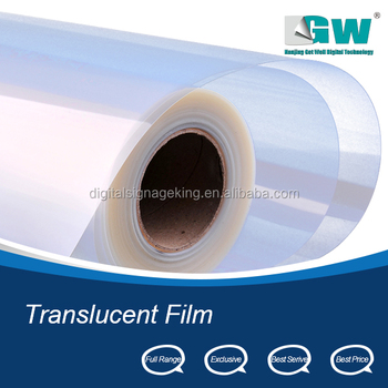 Semi-Transparent and Waterproof inkjet film for plate making