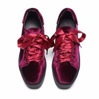 OEM and ODM 2017 New Design lace up casual flat shoes for women