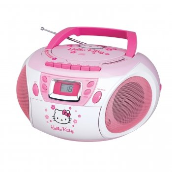 Hello Kitty KT2028A Stereo CD Boombox with Cassette Player/Recorder and AM/FM Radio Hello Kitty KT2