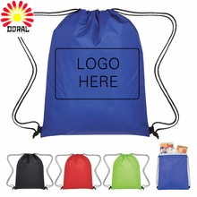Promotion Gift Bags Women Wholesale Canvas Drawstring Bag Shopping Bag