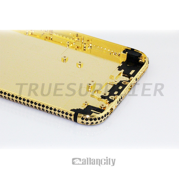 Diamond Phone Gold Plated For Apple Iphone 6 Black Gold 24 Ct Gold ...