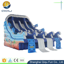 high quality kids play outdoor inflatable dry slide used swimming pool