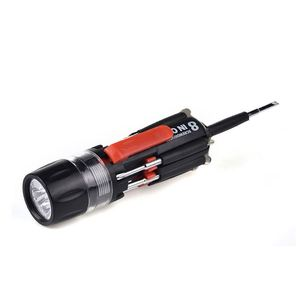 Cordless bit tool set 8 in 1 multi screwdriver flashlight