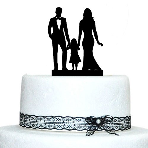 Black And Purple Silhouette Wedding Cake
