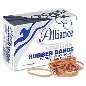 Alliance Products - Alliance - Sterling Ergonomically Correct Rubber Bands, #33, 3-1/2 x 1/8, 850 Bands/1lb Box - Sold As 1 Box - Excellent, easy stretch to help avoid Carpal Tunnel Syndrome. - Perfect for repeated use and fast application. -