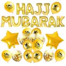 Goud Glitter Ramadan Mubarak Ballon Party Gunsten <span class=keywords><strong>Eid</strong></span> Mubarak