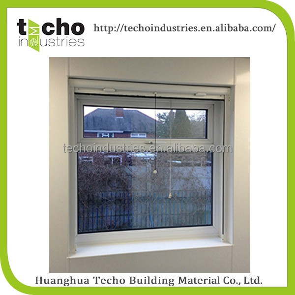 vertical rolling screen window , luxury aluminium window inside open