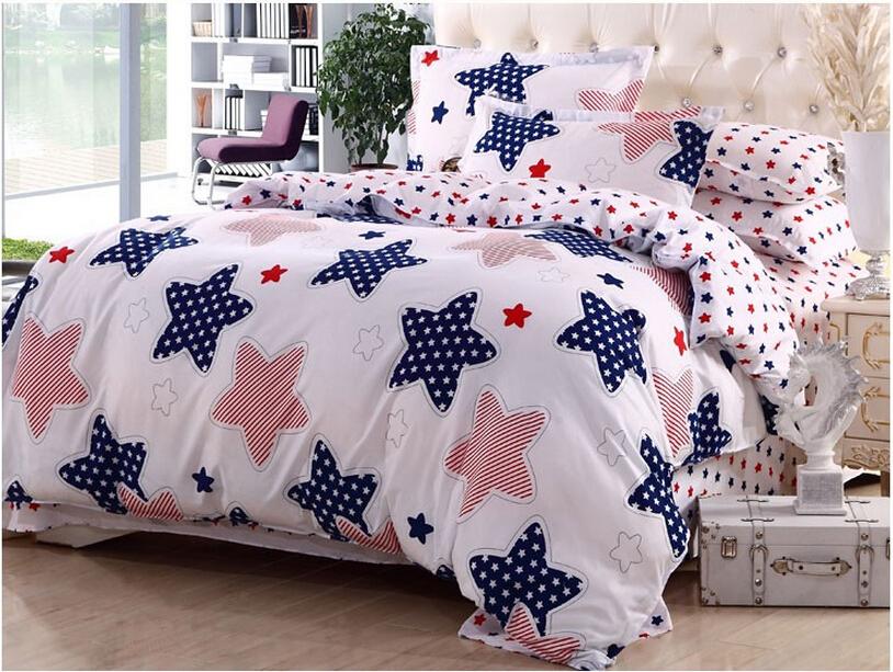 100% Cotton Four Piece Set 4 Cotton Bedding Bed Sheets