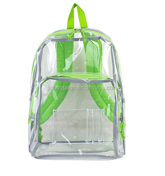 Clear Backpack Travel Beach Security Bag Transparent School ...