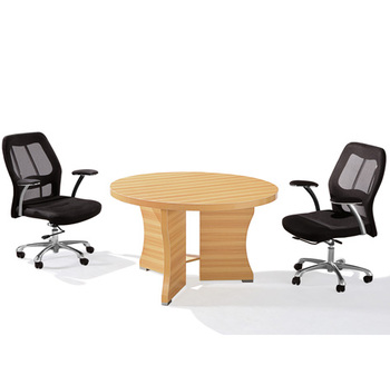 Modern OEM Melamine Office Furniture Round Small Conference Meeting Room Table View Meeting Table Chuangfan Product Details From Guangzhou Chuangfan