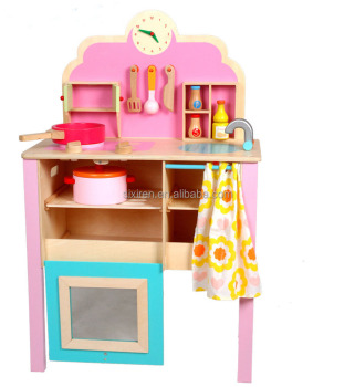 Children Pink Simulation Kitchen Set Toys Wooden Pretend Play Toy Kitchen  Set, View kitchen toys for children, youlebi Product Details from Guangzhou  ...