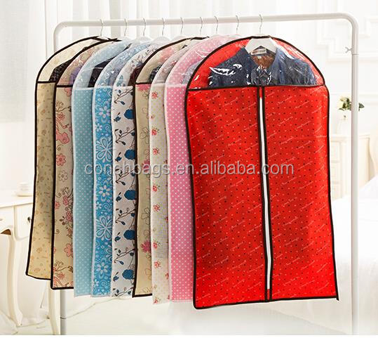 China Original Factory Wholesale Custom Logo Non woven Reusable Foldable Nonwoven Suit cover/Garment Bag