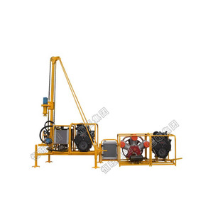 Man portable rock drill machine for short drill