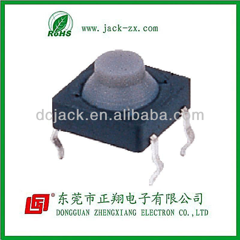 2013 factory price 8*8 dip round cap Waterproof 4 pin conductive paste tactile tact switch