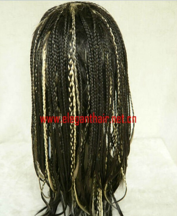 selling websites colored Micro braided lace front wigs for black women