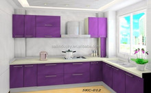 L- Shaped High Gloss Lacquer Finish MDF Door Kitchen Cabinet With MFC
