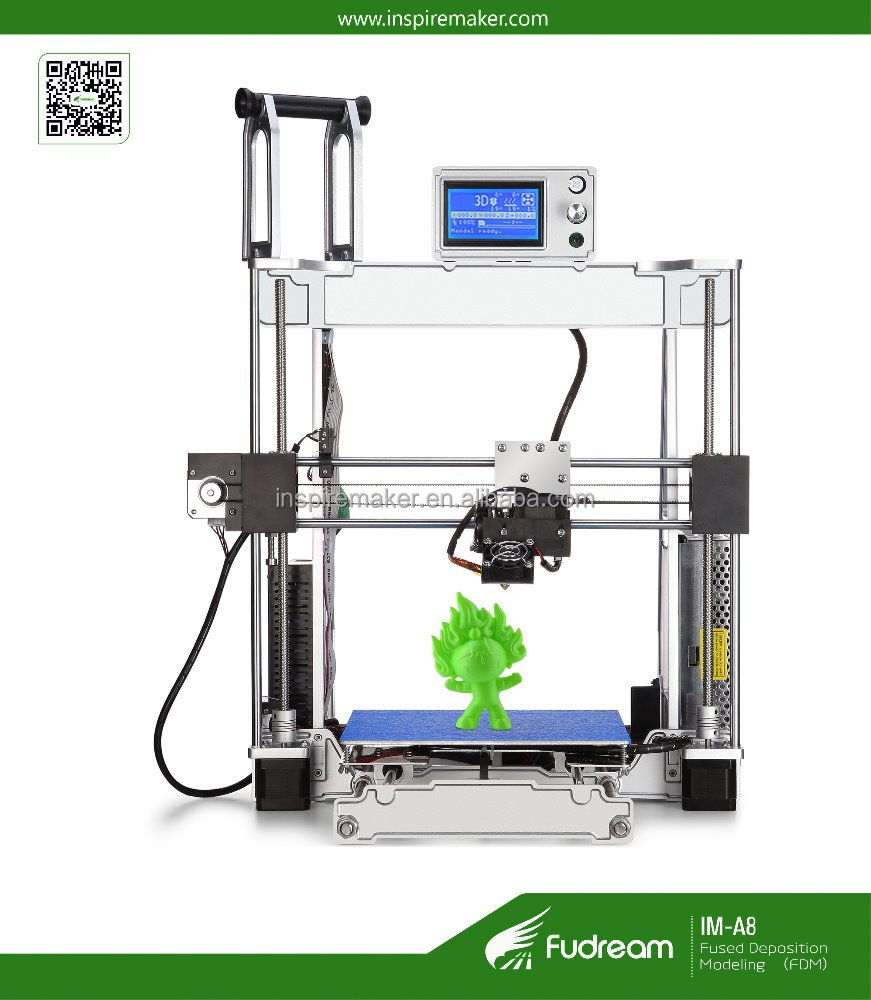 2017 best selling portable a4 size diy 3d printer used with 1.75mm pla plastic material