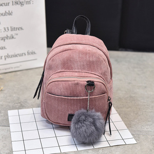 2019 New Mini Backpack Multifunction Shoulder Bag High Quality Corduroy Canvas Student Girls Backpacks