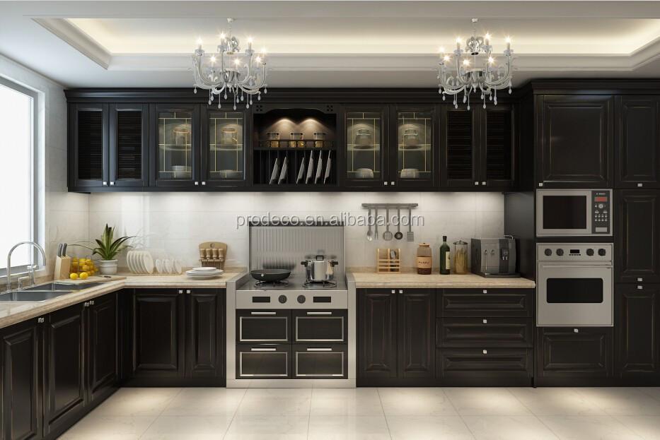 Luxury Furniture Kitchen Cabinet Aluminum Glass Door And