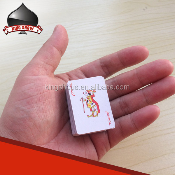 custom paper plastic mini playing cards for kids children