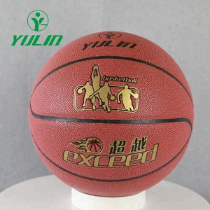 School teaching and Sport training Customized Logo PU Cover Basketballs