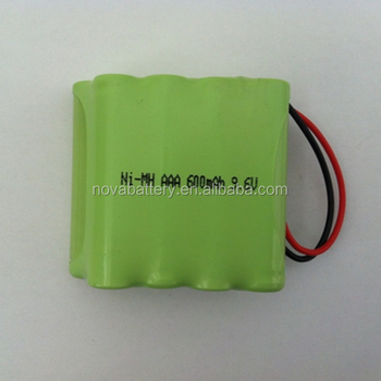 Aaa 600mah 9.6v Nimh Rechargeable Battery Pack - Buy Ni-mh