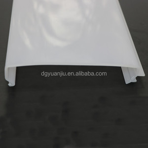YJ-21 UV resistant extrusion Milky White Led Linear Light Cover / LED Strip Light Cover / Plastic Lampshade Cover