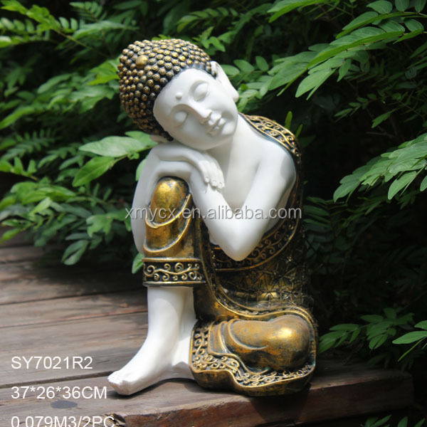 Tabletop decoration polyresin blue buddha head