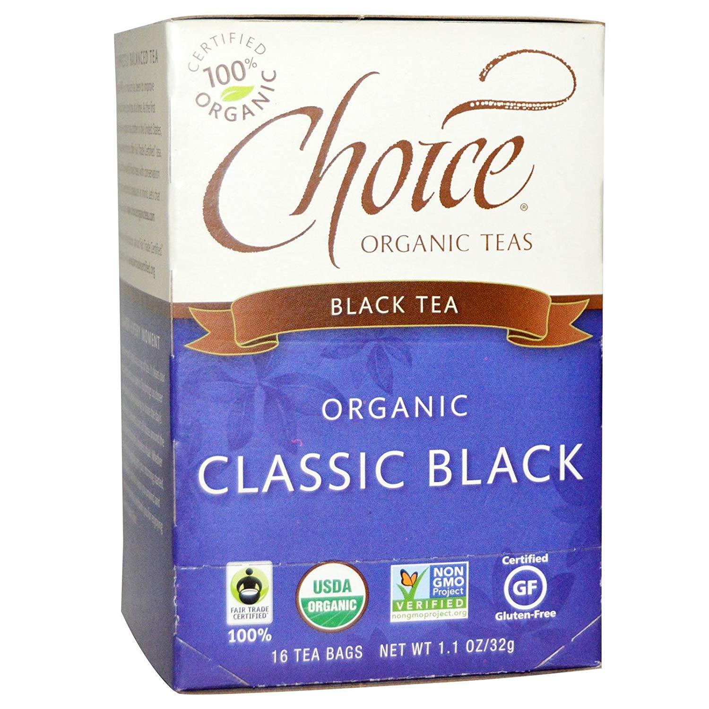 Choice Organic Teas B28140 Choice Organic Teas Classic Black -6x16 Bag