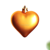 plastic heart shaped christmas ornaments