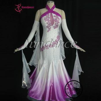 92989b348 Professional Customizing High-grade Used Ballroom Dance Dresses For Sale  White And Purple B-