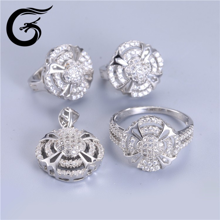 factory direct sale 925 sterling silver jewelry set 925 silver price per gram