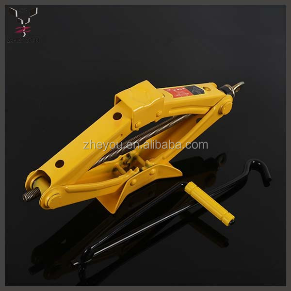 new style 1.5ton green small hand car scissor lift jack tools