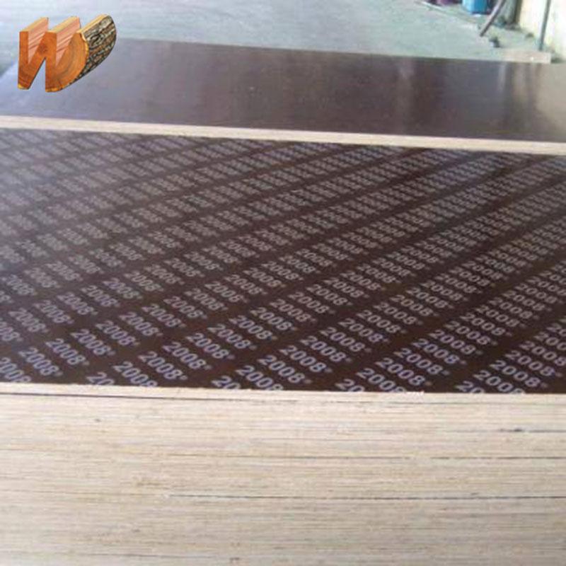Shandong fábrica barato enfrentou a madeira compensada da construção com cola WBP