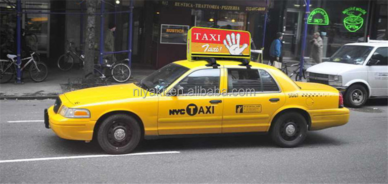 Led Taxi Top Advertising Billboard Sign 3g Input Magnetic