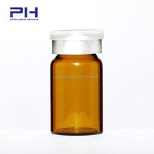 rubber inner stopper aluminum cap glass vial for steroids