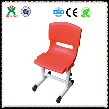Luxury Adjule Preschool Acrylic Dining Chairs School Furniture Plastic Red For Kids
