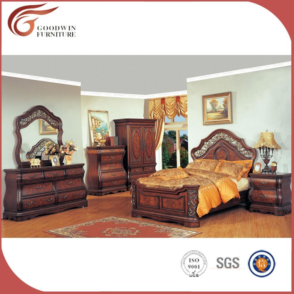 Königliche Möbel Antikgold Schlafzimmer Möbel Set Wa156